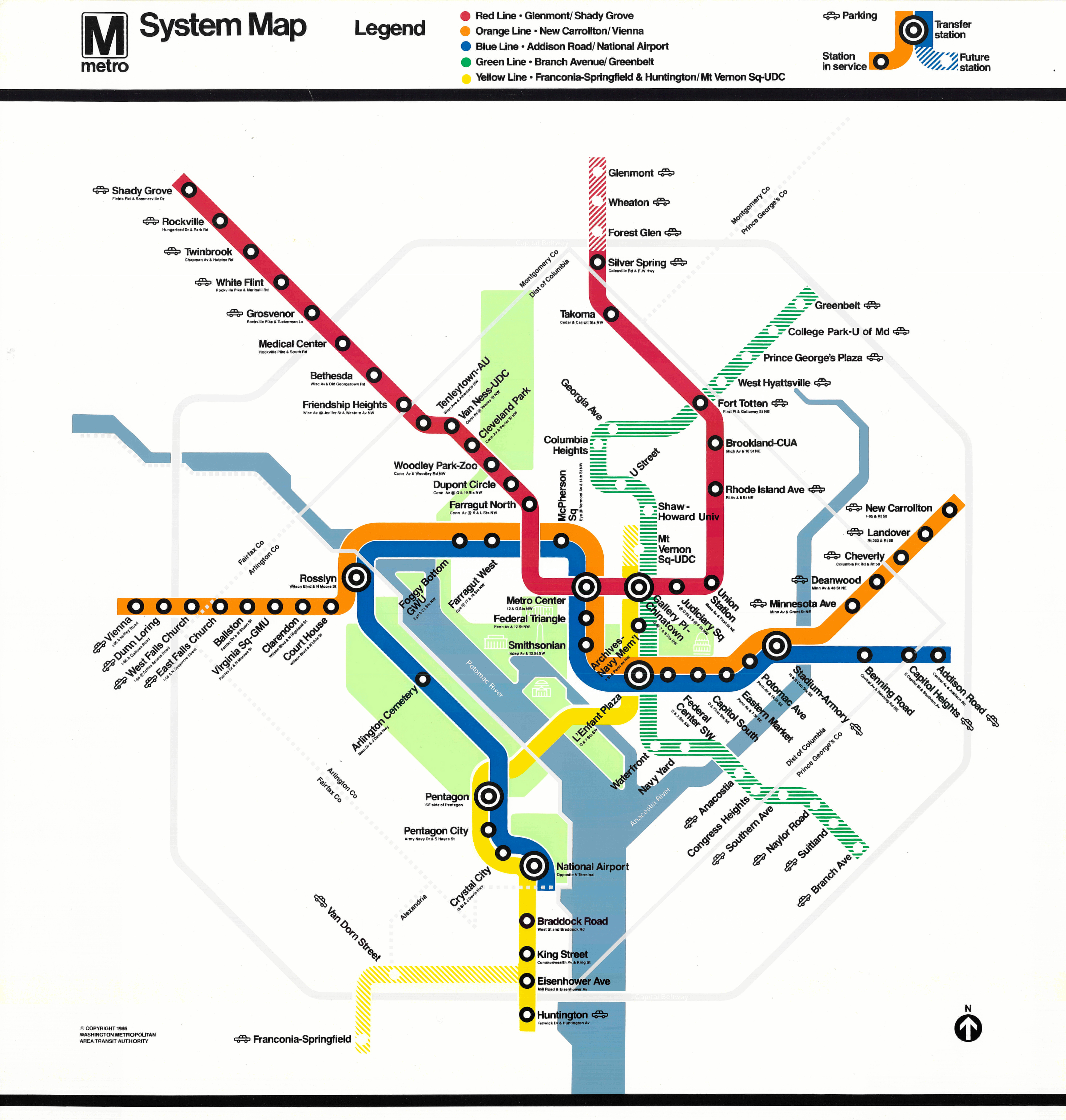 Map Of Dc Subway System