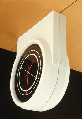 Slim mounted clock into ceiling concept