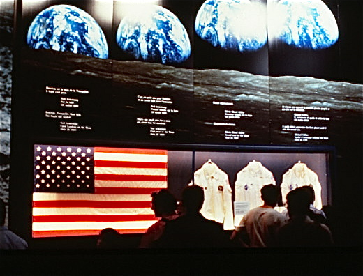 History board of Apollo 11