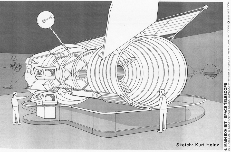Hubble Exhibit Sketch of Accepted Fllor Mounted Proposal