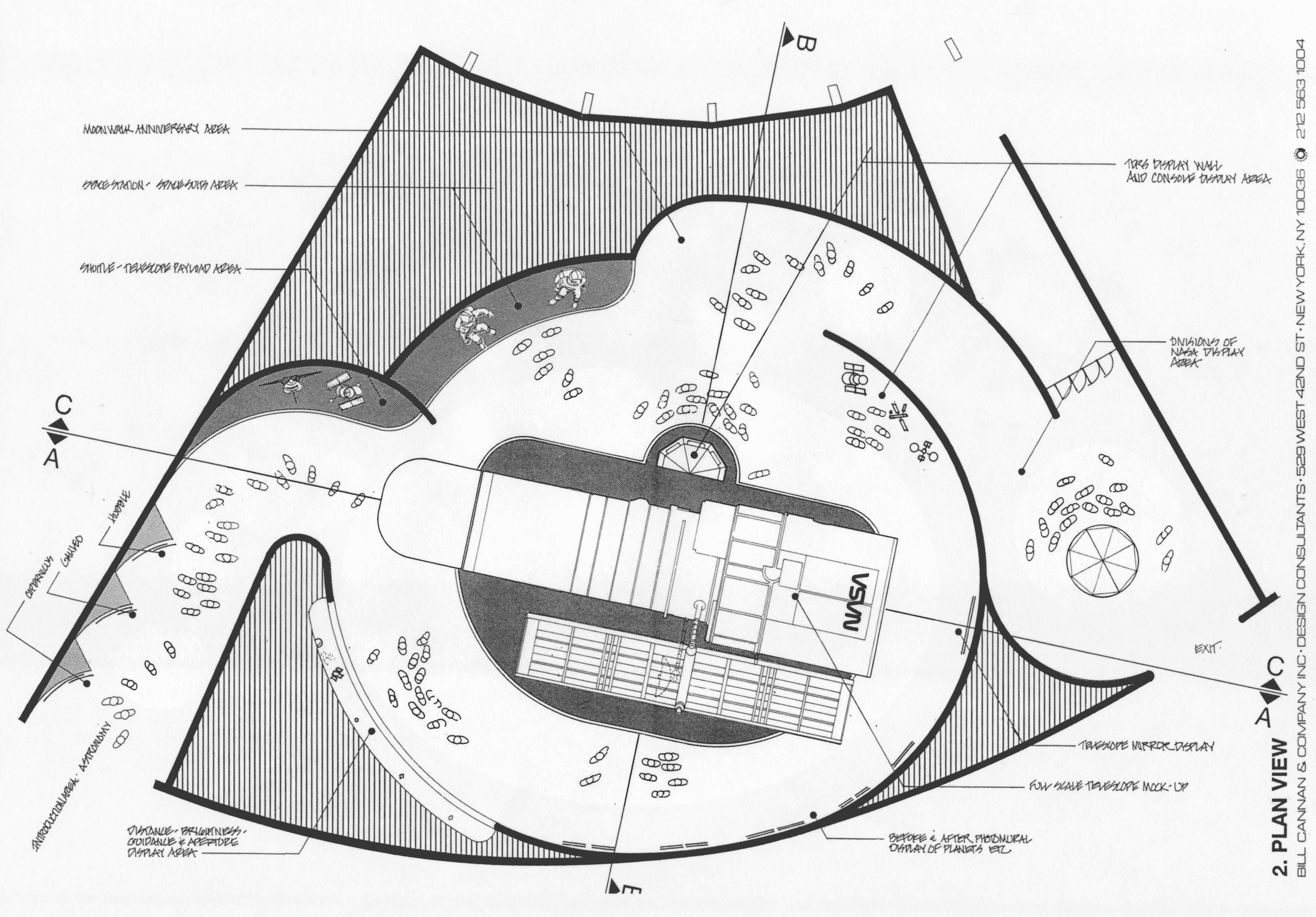 Drawn plan of the exhibit