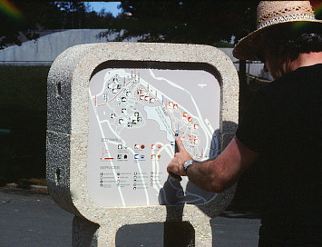 Map of the Zoo trails and directory