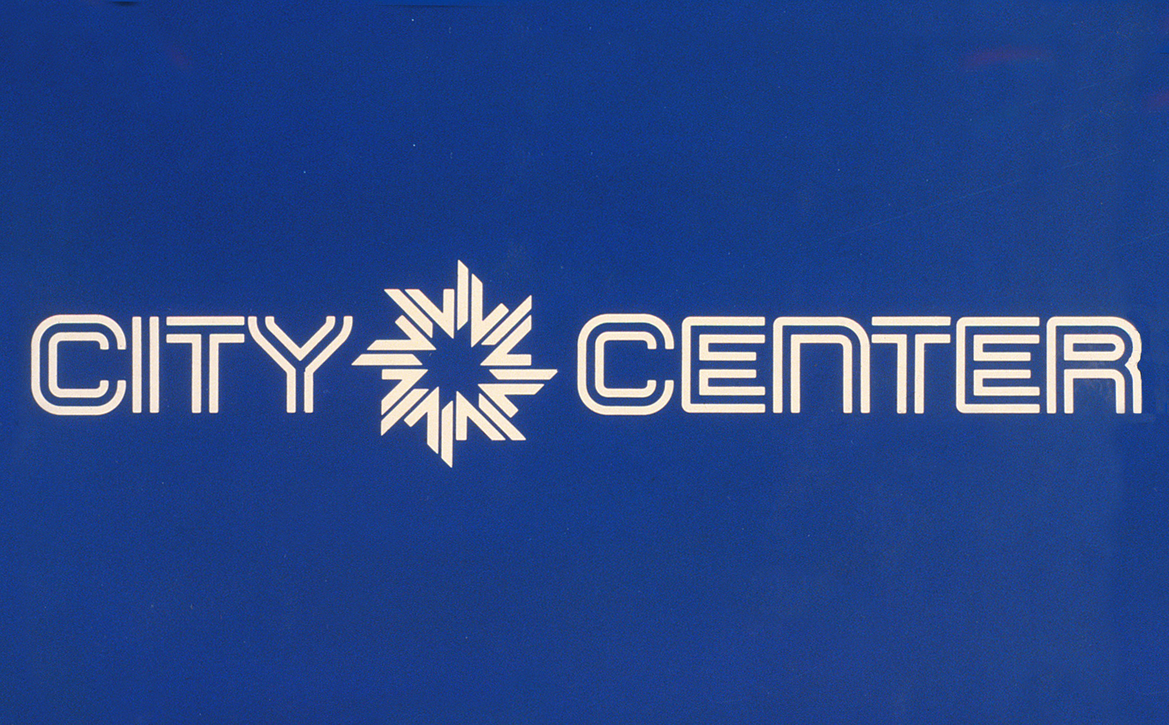 Minneapolis City Center logo and typeface signature.