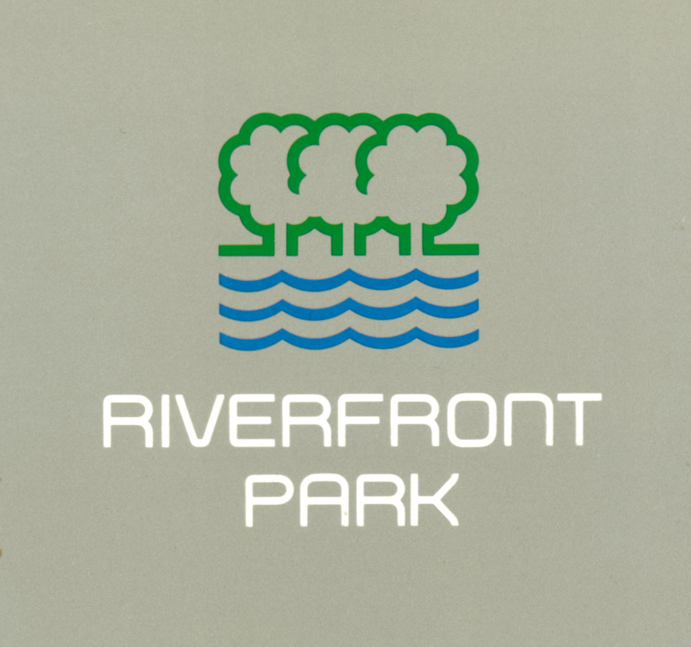 The logo and typeface for the Riverfront Park project.