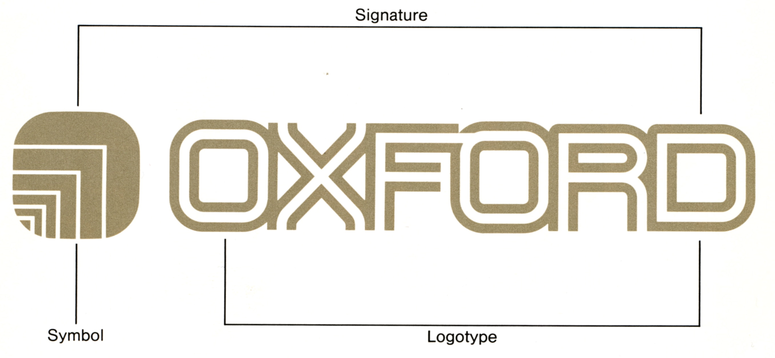 Logo and signature with details of its construction.