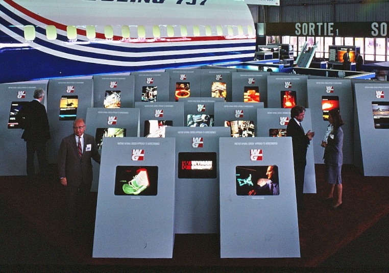 The 1985 exhibit space at le Bourget.