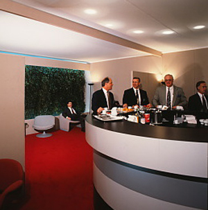 Four men in the reception area.