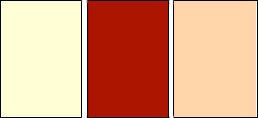 Chalet colors scheme.   	Biege, burgundy, and ochre colors in rectangles.