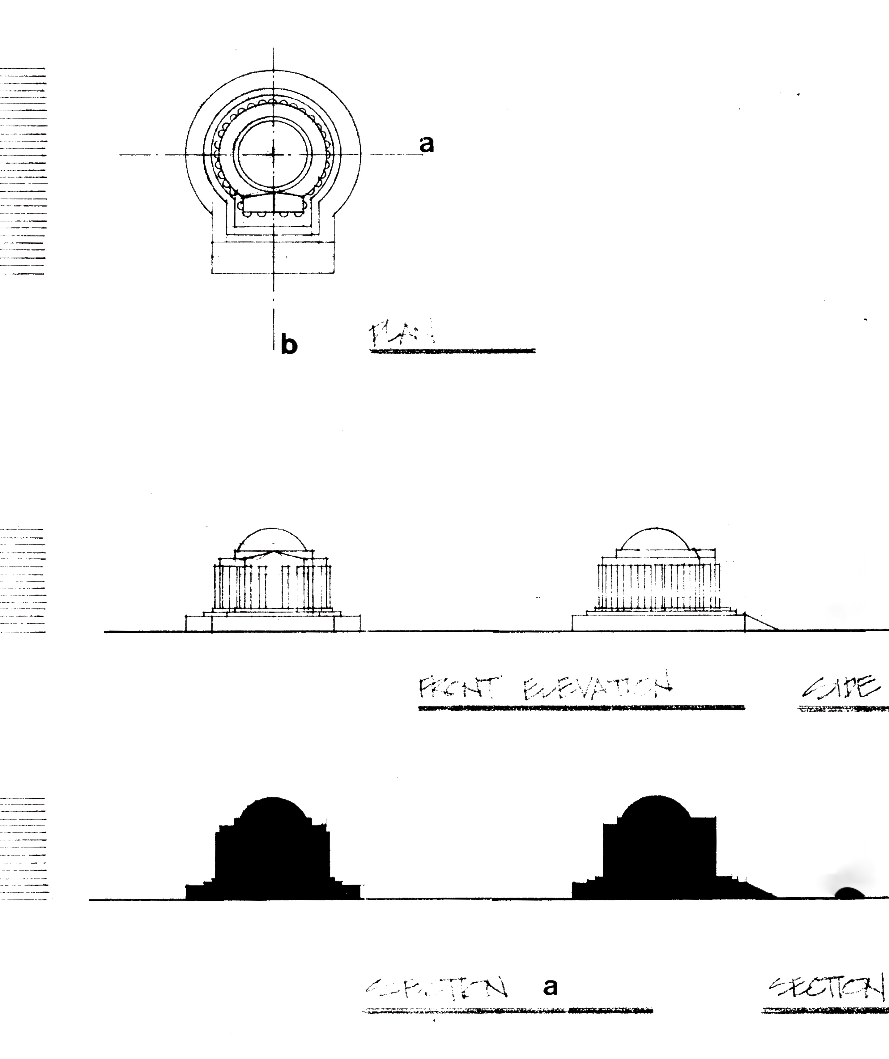 Jefferson Memorial drawing