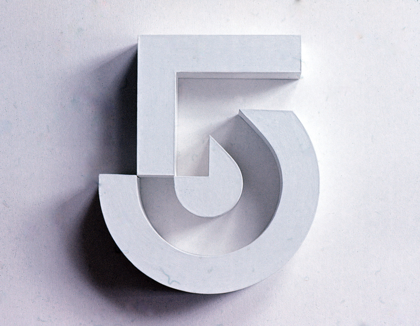 Channel 5 logo with shadows