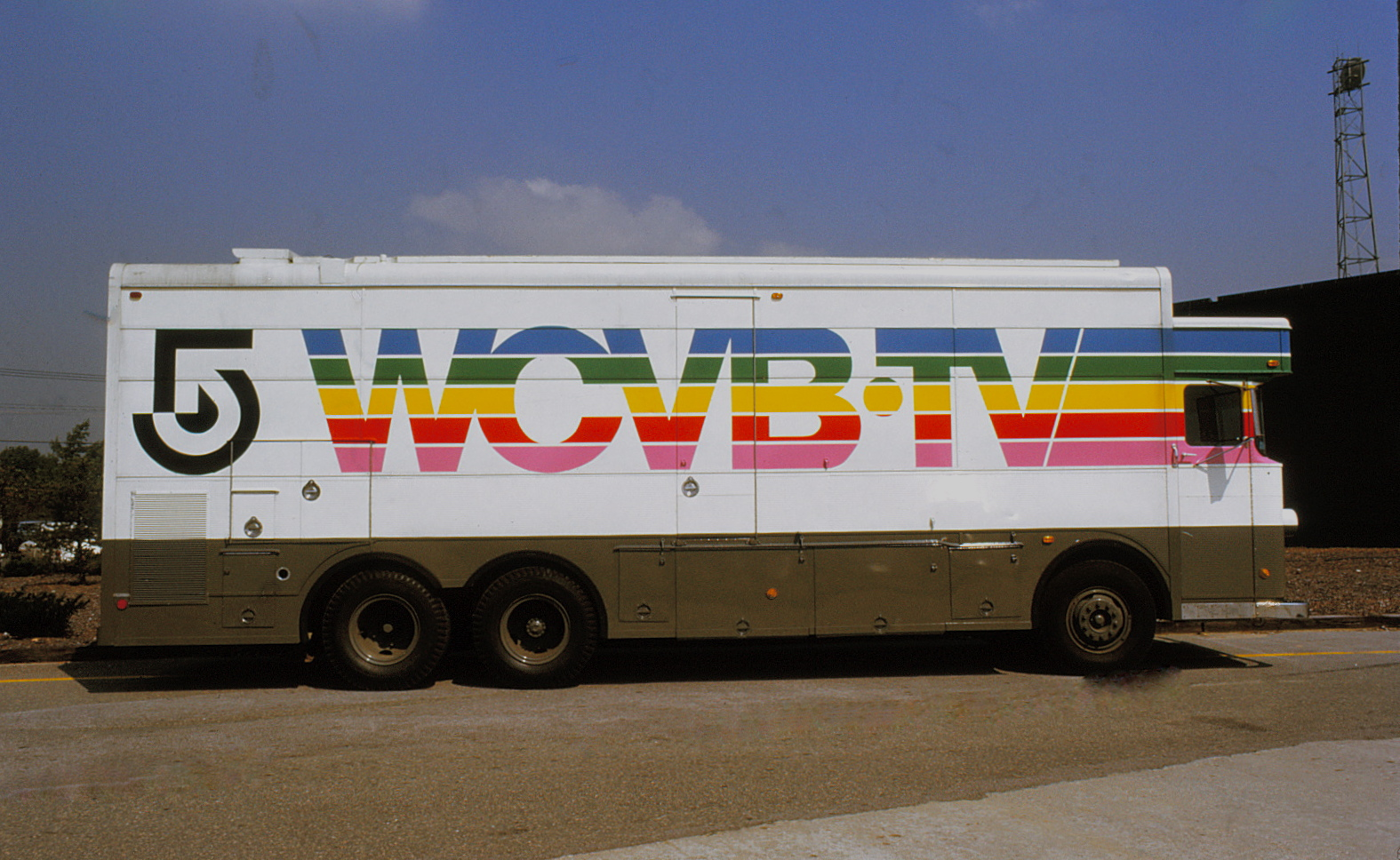 Painted news truck with logo
