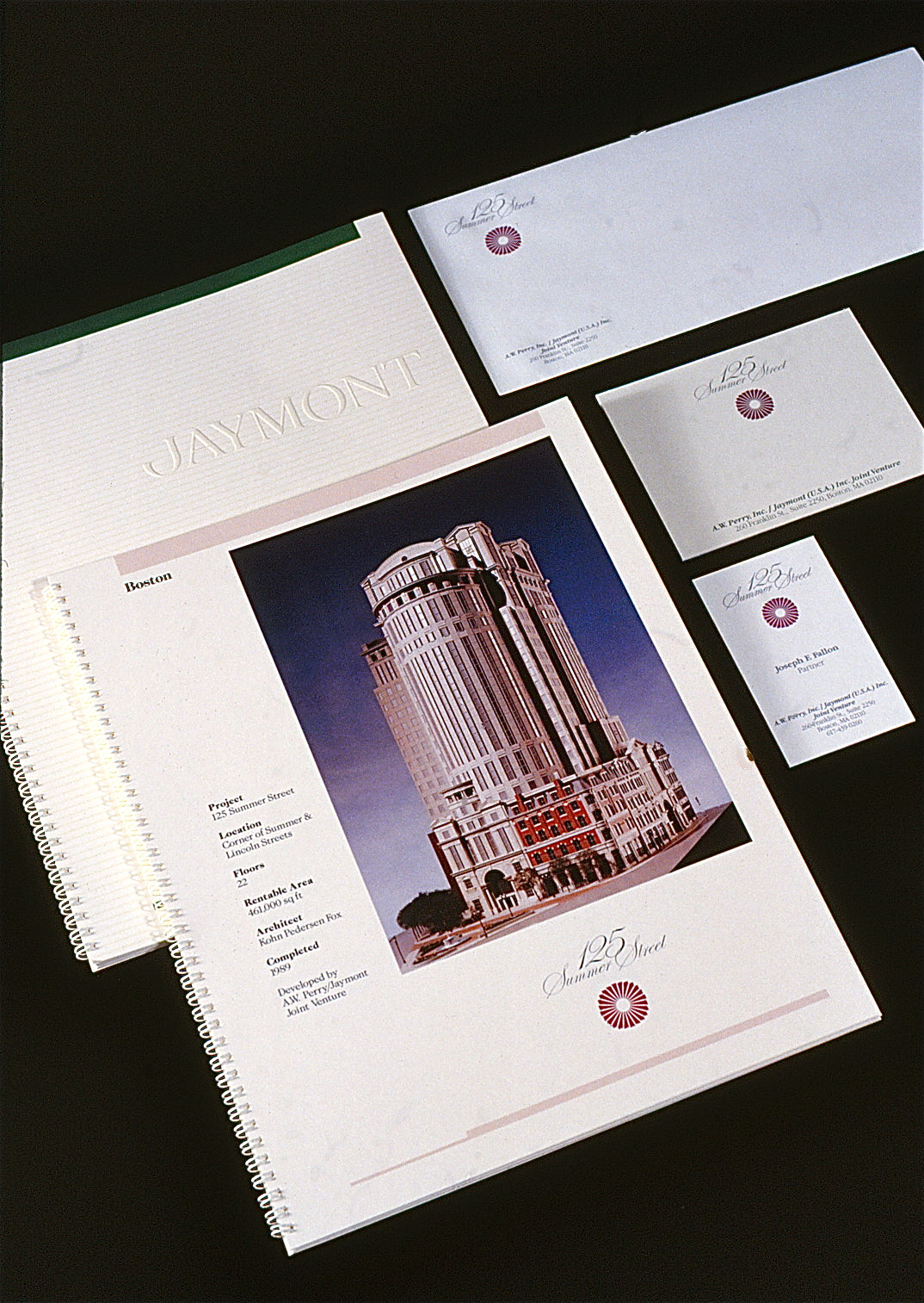 The symbol and logotype displayed on letterhead, envelope, and business cards.