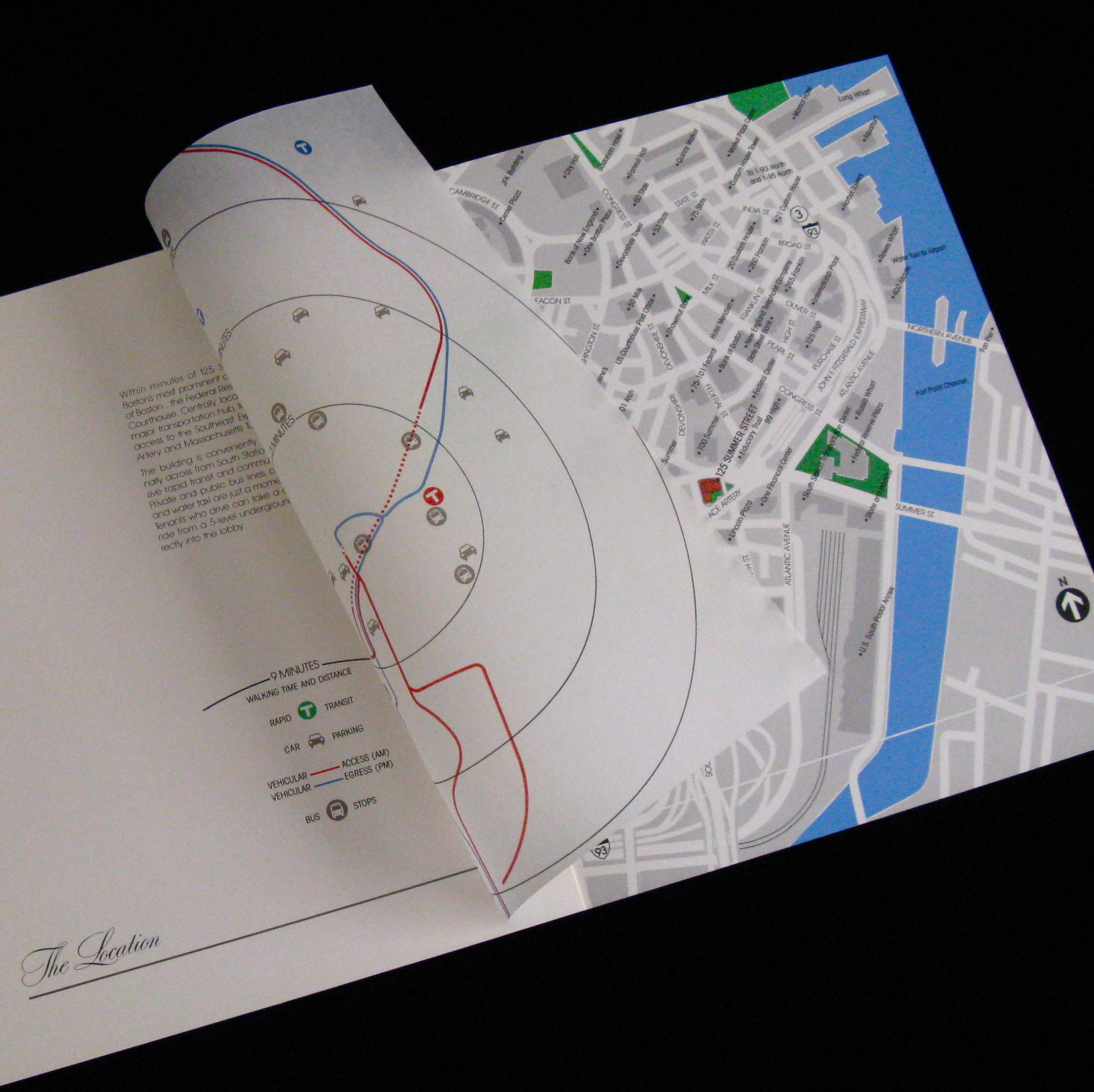 Brochure map with overlay.