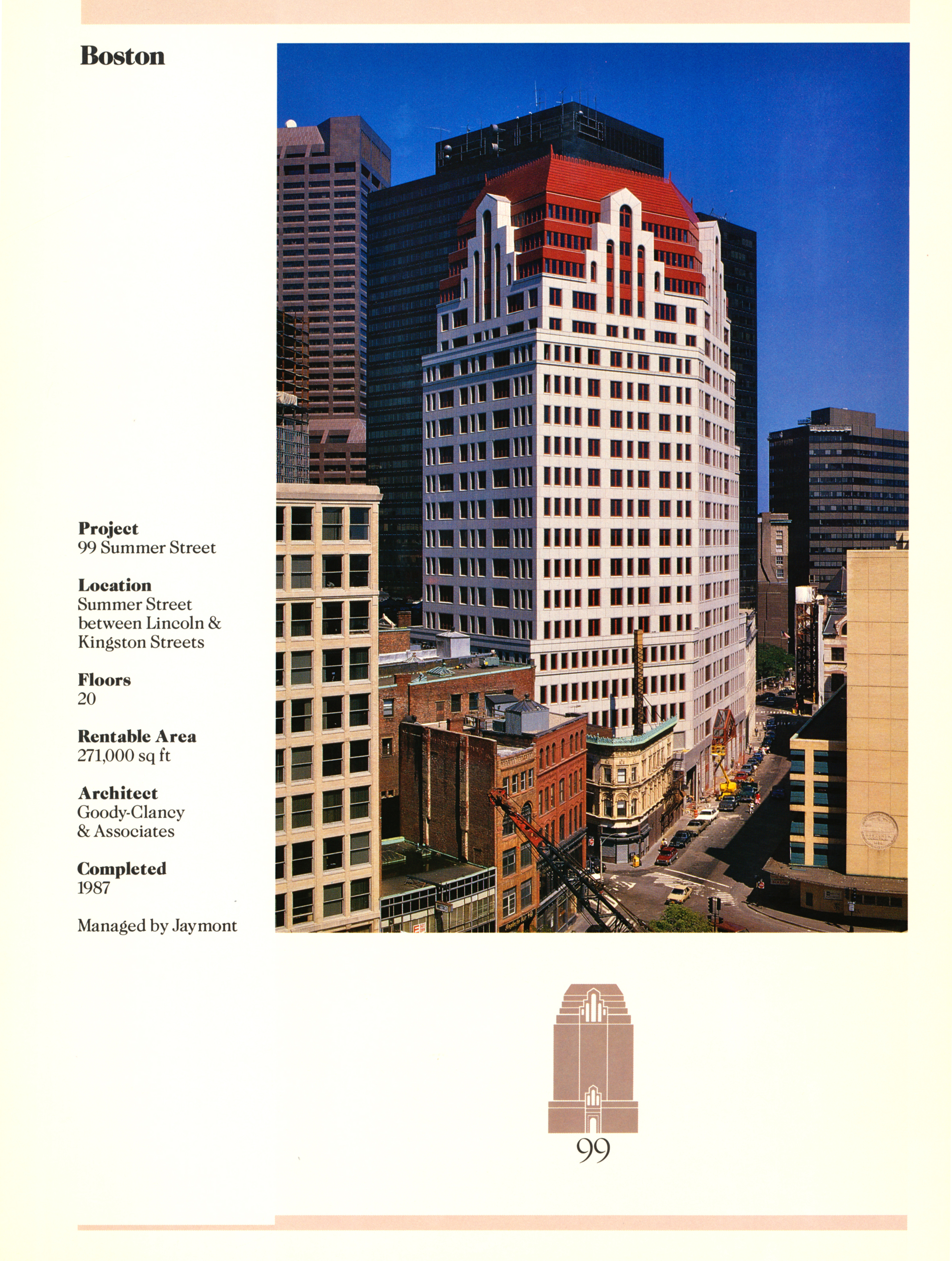 Fact sheet with large image and detailed stats for the building.